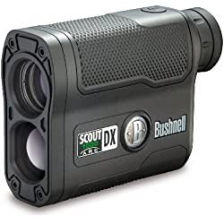 Bushnell Scout DX 1000 ARC - Telémetro láser de caza, color negro
