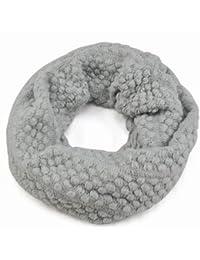 chinkyboo – Las niñas Burbuja maíz círculo lunares de lana para tejer  bufanda suave cuello Wrap 1c2fa6324dc
