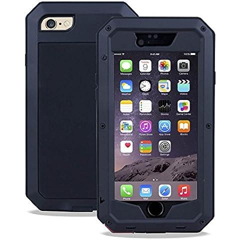 SAVFY - Resistente de Aluminio del Metal Carcasa Protectora Protector Funda Para iPhone 6 6S 4.7 inch a Prueba de Golpes y Suciedad