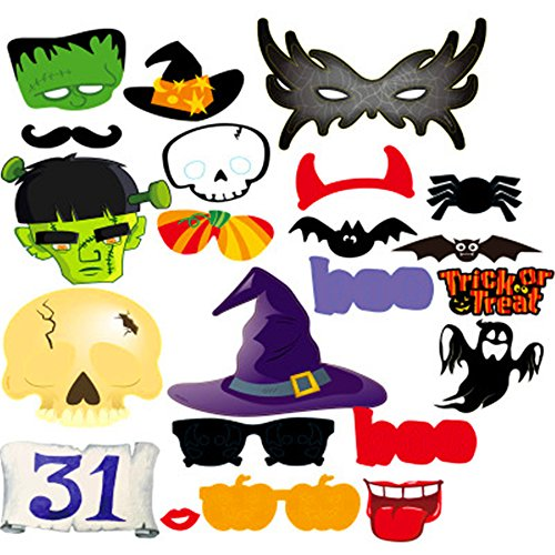 AAAHOMEEU 5Pcs Halloween-Party fotografierte Requisiten Geist-Festival Ostern Spinne Schädel lustig Horror Dressing Papier Papier (Requisiten Halloween Rabatt)