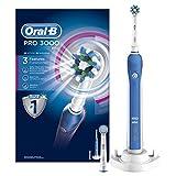 Oral-B Pro 3000 Elektrische Zahnbürste, mit Timer und CrossAction Aufsteckbürste