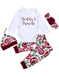 K-youth Ropa Bebe Niña Otoño Invierno Infantil Recien Nacido Body Bebé Niña  Camisas Manga 49bb75be7ff4