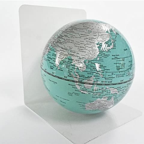 PROW® L-förmig Eisen Stand Saphirfarbe Satelliten Weltenbummler Weltkarte HD drucken Pädagogisch Und Lernen Globus Mit Magnet