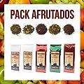 Aromas de Té - Fruité pack contient du thé vert et Sorbet à la mangue Blanc/Vert et Blanc Sorbet Granadino/Te Pu erh rouge cerise/rouge Pu erh Baies/Te Verde esplandor