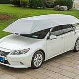 Semiautomático Carpa de presión hidráulica de coches paraguas plegable Anti-UV de coches móvil Cochera Parasol Toldo cubierta universal