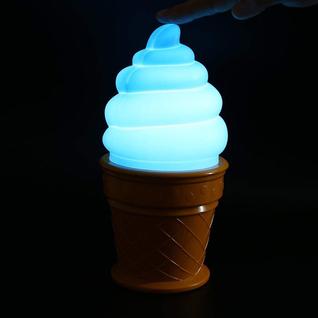 Lamps with night light - Novelty Led Night Light Ice Cream Lamp Led Lamp Night For Kids Children Cone Shaped Desk Table Lights For Bedroom Amazon Co Uk Kitchen Home