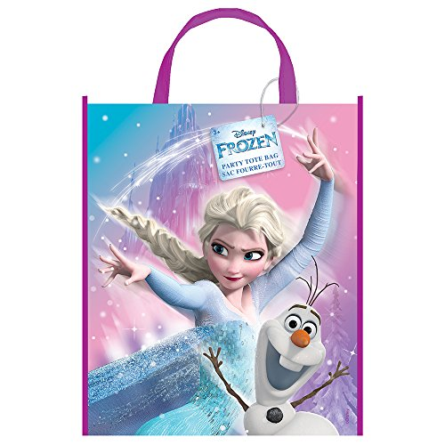 Unique Party 59903 Große Kunststoff Disney Frozen Party Tasche, 33 cm x 28 cm