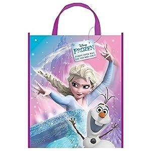 Unique Party 59903 - Bolsa de plástico Grande para Fiesta de Frozen de Disney, 33 x 28 cm