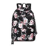 Mochila para Chicas, Moda Floral Colegio Bolsas Estudiante Escuela Mochila Viajes Daypacks 1...