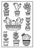 Tic-Tac Nouveaux 16x11cm Timbres Scrapbook Tampons cactus-02