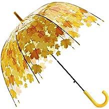Paraguas Transparente Paraguas Recto Paraguas Verde para Hojas pequeño y Fresco