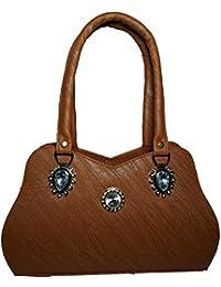Ranbed Womens Leather Handbag_Brown - B077S2146P