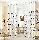 Neue Luxus gestickte schiere Vorhänge Fenster Tüll Vorhänge für Wohnzimmer Schlafzimmer Küche Gaze Vorhänge , width of 3 meters x high [2.7]] , 1