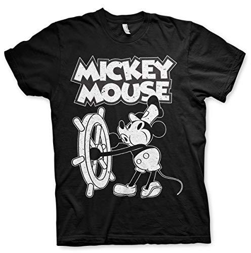Mickey Mouse Walt Disney Vintage Pose offiziell Männer T-Shirt Herren (XX-Large) -