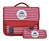 Ensemble Cartable Interdit de me Gronder + Trousse Ronde Assortie - Collection...