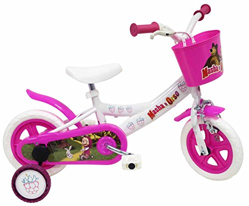 Masha y el Oso - Bicicleta Infantil Blanco 10'