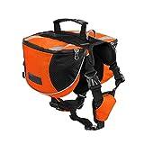 Yiiquanan Hund Rucksack Verstellbar Pack Mittelgroße & Large Hunderucksack für Wandern Camping Reise (Orange#2, Asia L)