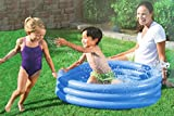 BESTWAY Planschbecken 3 Ring blau Kinder Baby Pool 122x25 cm -