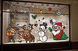 Tuopuda Natale Rimovibile Vetrofanie Adesivi Murali Finestra Decorazione Fai da Te Adesivi da Parete Decorazione Murale Vetrina Sfondo Regali di Natale (colorato)