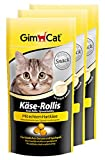 GimCat Cheezies / Kase-Rollis / Cat Treats with Hard Cheese / Rich in Vitamins / 3 x 40g in Resealable Sachets
