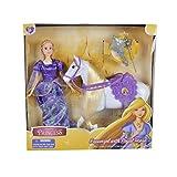 El cuento de hadas de Toon Studio Princesa Rapunzel con caballo real y...
