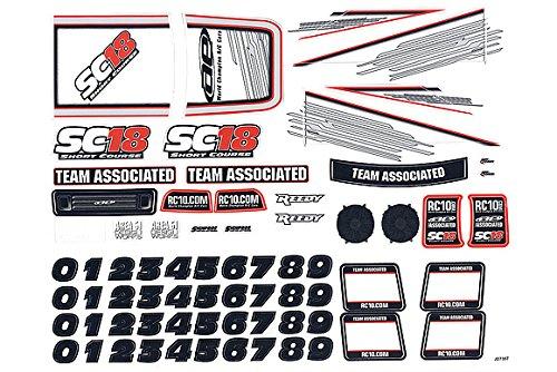 Team Associated 1SKB-SC18 RTR Decal Sheet