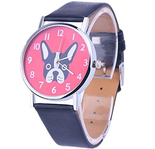 ZARU mujer estampados de animales Vogue imitación cuero banda cuarzo analógico relojes de pulsera