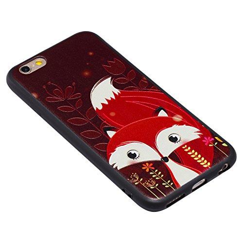 iPhone 6 Hülle, Voguecase Silikon Schutzhülle / Case / Cover / Hülle / TPU Gel Skin für Apple iPhone 6/6S 4.7(MUSIC) + Gratis Universal Eingabestift Rot Fuchs 05