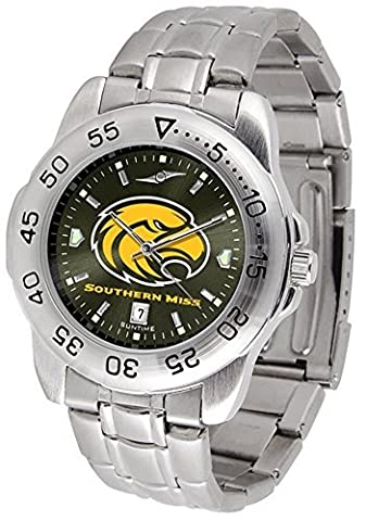 Southern Miss Sport Anonized Men's Steel Band Watch by SunTime