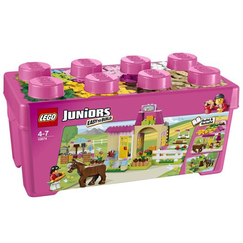Preisvergleich Produktbild LEGO Juniors 10674 - Große Steinebox Mädchen Ponyhof
