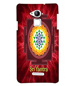 Fuson Sri Yantra Back Case Cover for Coolpad Note 3
