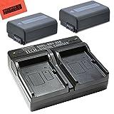 #2: 2-Pack Of NP-FW50 Batteries & Dual Battery Charger for SonyDSC-RX10/B DSC-RX10 II DSC-RX10 III Alpha A6300 Alpha 7 A7R A7R II A7S A7S II A7II A3000 A5000 A5100 A6000 NEX-3 NEX-C3 NEX-F3K NEX5 NEX5K NEX5N NEX5T NEX6 NEX7 SLT-A33 SLT-A35 SLT-A37 SLT-A55 ILCE-QX1 Digital Camera