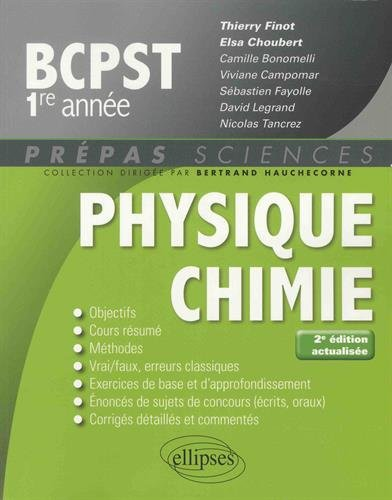 Physique-chimie BCPST-1 - 2e dition actualise