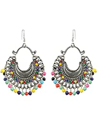 The Indian Handicraft Store Add Stunning / Adorable Trend Of Multi Colour Beads Dangler / Earrings