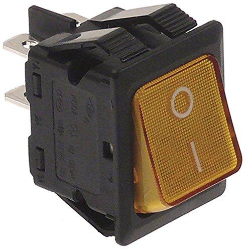 Interruttore basculante oem per r-96-3, s-111-3, r-96-2, s-99-3, r-99-1 a 2 poli 400 v 2no connettore giallo connettore piatto 6,3 mm dimensioni 30 x 22 mm