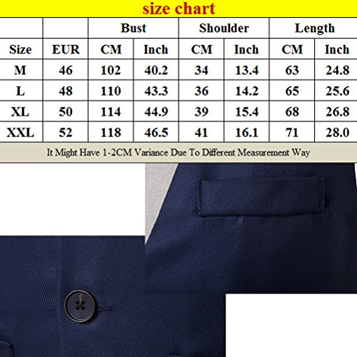 Zhhlaixing Atmungsaktiv Men's Business Formal Casual Dress Suit Vest Waistcoat Sleeveless Wine Red