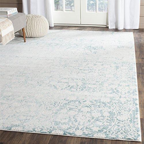 Safavieh Wohnzimmer Teppich, PAS403, Gewebter Polypropylen, Elfenbein / Türkis Blau, 200 x 300 cm - Safavieh Transitional Teppiche
