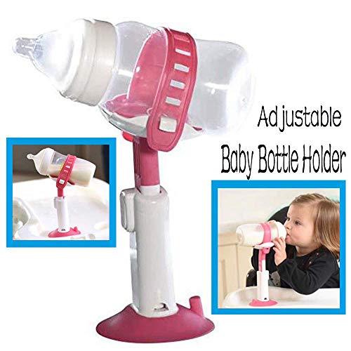 JWR Baby Flaschenhalter Einstellbar Rutschfeste Mit Saugnapf Babys Flaschenhalter Hände küche lagerung Regale für küche