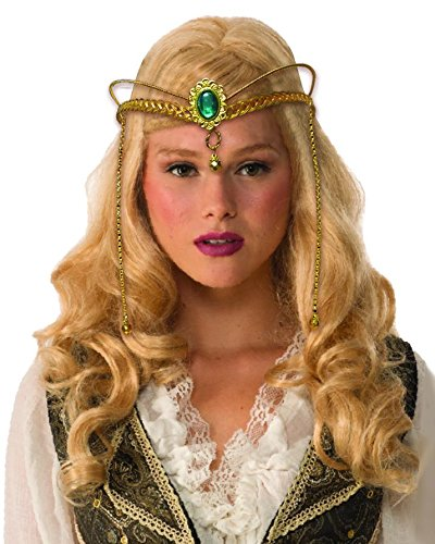 shoperama Goldene Mittelalter Fantasy Krone aus Metall Kostüm-Zubehör -