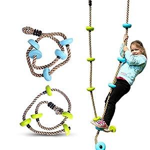 Per Cuerda de Escalada con Plataformas Juego de Columpio de oscilación Accesorios al Aire Libre de Jardín para Niños