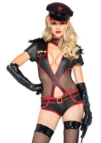 Leg Avenue Kostüm Admiral Militärische für Damen schwarz Größe M