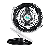 #2: HITSAN INCORPORATION 360 Degree Adjustable Portable USB Rechargeable Battery Mini Fan Clip On Baby Stroller