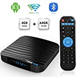 Sidiwen T95X2 Android 8.1 TV Box 4GB 64GB Amlogic S905X2 Quad Core Intelligente Lettore Multimediale Supporto Bluetooth 4.1 Dual WIFI 2.4G/5G Ethernet USB 3.0 3D 4K Ultra HD H.265 Rete Set Top Box