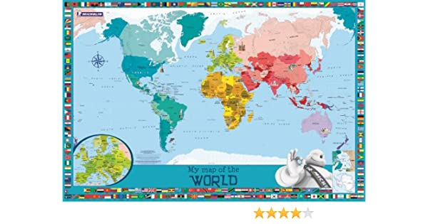 My map of the world michelin childrens wall map map wall my map of the world michelin childrens wall map map wall amazon michelin 9782067194014 books sciox Image collections