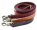 Moonpet weiche und extra stabile Hunde-Trainingsleine aus echtem, genarbtem Leder, Premium-Qualität, strapazierfähig, 122 x 2 cm, für mittel-große und große Rassen