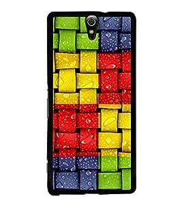 Hi-Me Designer Phone Back Case Cover Sony Xperia C5 Ultra Dual :: Sony Xperia C5 E5533 E5563 ( Vibrant Chex Dewdrops on Pattern )