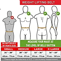 XTRIM DURA Belt- 4 INCH-Genuine- Suede Leather-Power- Weightlifting-Squat-Back Support-Professional Brace-Double Prong Closure-8 MM Thick-for Men-Long Lasting- Competition Standards (L, Croco Brown)