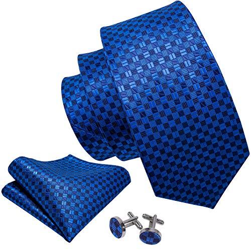 Barry. Wang, Krawatten-Set mit Einstecktuch und Manschettenknöpfen Gr. Einheitsgröße, blau -