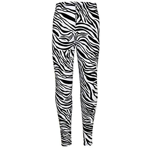 Mädchen Leggings Kinder Tier Zebra Druck Modisch Leggings 7 8 9 10...