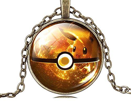 """Preisvergleich Produktbild Halskette und Metall-Anhänger. POKEMON GO - Modell """"Poké Ball Pikachu"""""""